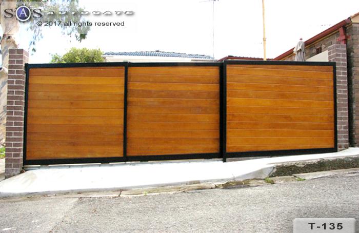 automatic telescopic timber gates