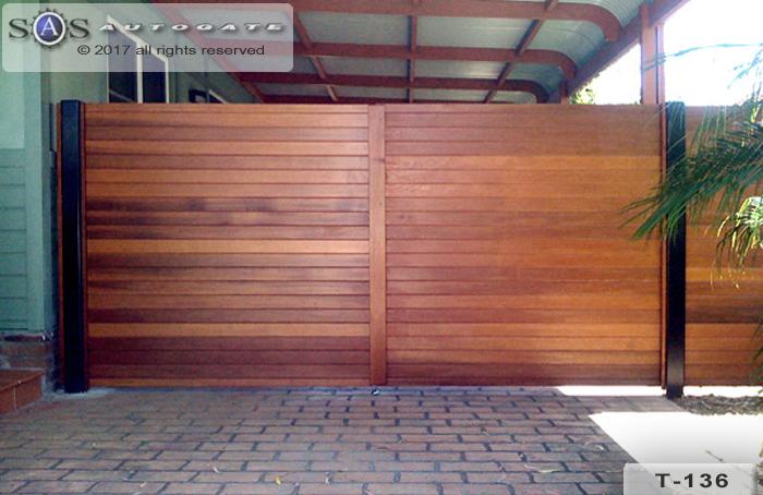 double swing Cedar gates