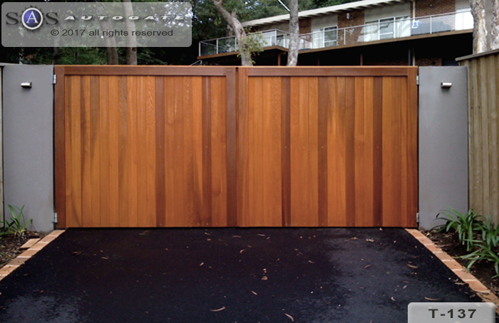 Double swing Cedar gates