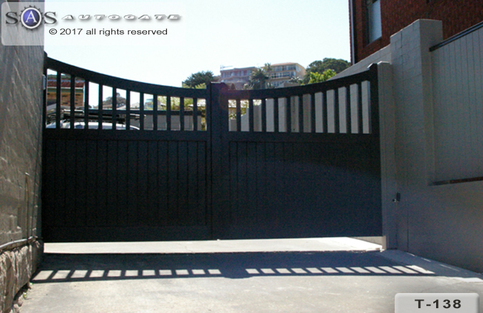double swing timber gates