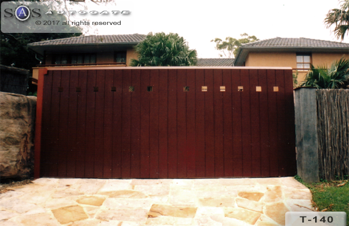 sliding timber gate